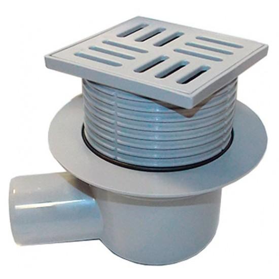 Трап с пластиковой решеткой регулируемый горизонтальный АНИ-пласт TA5604