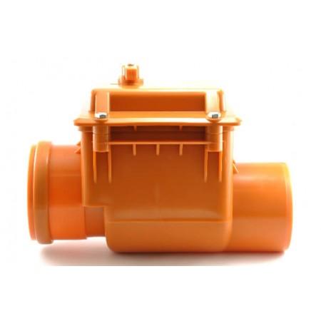 Обратный клапан Мпласт Ø110 для внутренней канализации