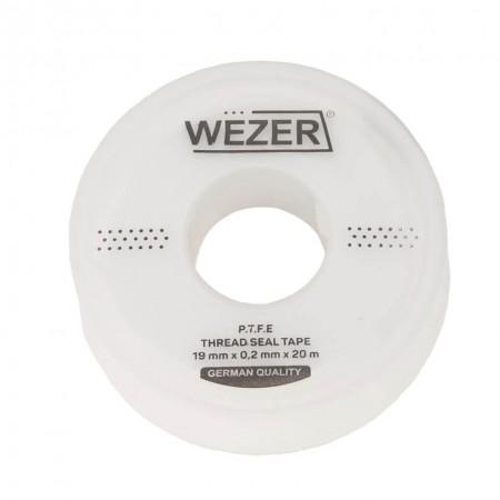 Фум лента Wezer 19 мм х 0,2 мм х 20 м для воды