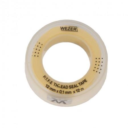 Фум лента Wezer 12 мм х 0,1мм х 12 м для газа