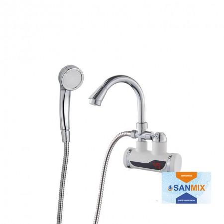 Кран водонагреватель с душем и датчиком температуры Wezer SDR-B07WSTP