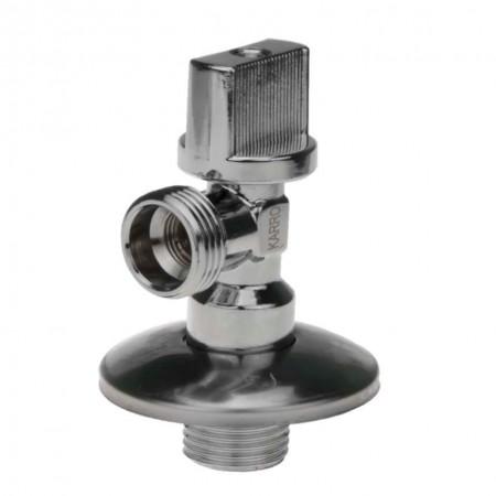 Кран приборный KARRO угловой 1/2*1/2 KR-5001 с латунным механизмом