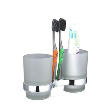 Стакан с держателем для зубных щеток Frap F1908