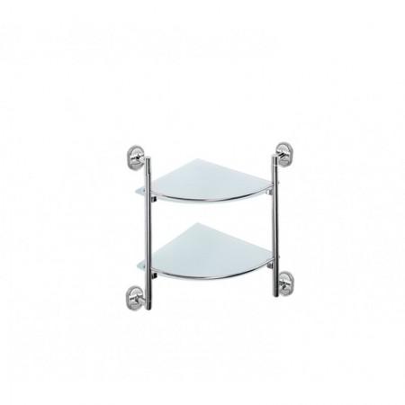 Стеклянная полочка для ванной угловая Potato P2907-2.