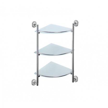 Стеклянная полочка для ванной угловая Potato P2907-3.