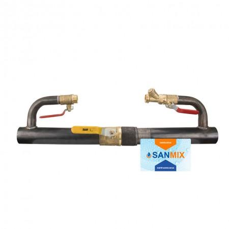 Байпас для отопления с краном длинный 50 мм 2 дюйма 330 мм полнопроходной
