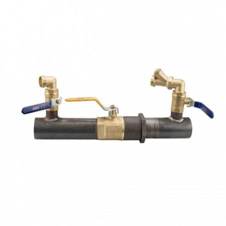 Байпас для отопления с краном короткий 50 мм 2 дюйма 200 мм полнопроходной