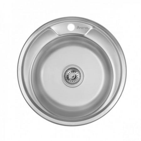 Мойка кухонная Imperial 490-A Satin 0,6мм 160мм
