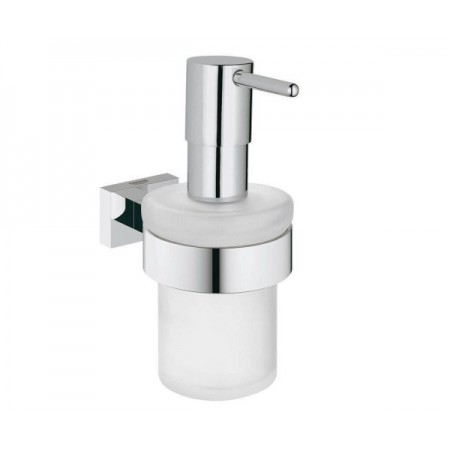 Дозатор жидкого мыла с держателем Grohe EX Essentials Cube 40756001