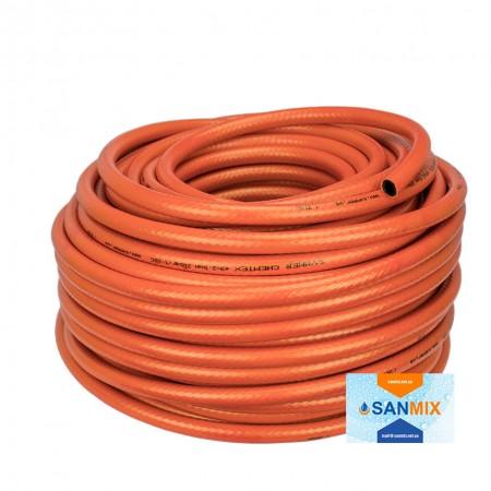 Шланг ПВХ армированный Symmer SHXO chemtex 9 мм оранжевый 50 м
