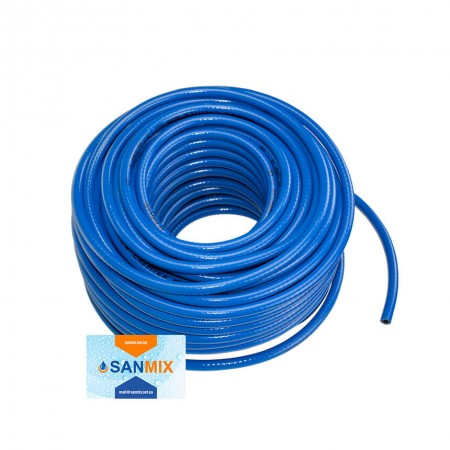 Шланг ПВХ армированный Symmer SHXB chemtex 9 мм синий 50 м