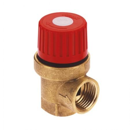 """Предохранительный клапан с внутренней резьбой 1/2"""", 2,5 бар """"Icma"""" №241"""