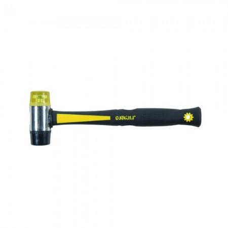 Молоток жестянщика резина-пластик 35мм фибергласовая ручка Sigma