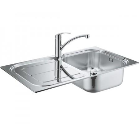 Набор Grohe EX Sink 31565SD0 кухонная мойка K300 + смеситель Eurosmart 33281002