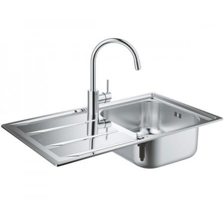 Набор Grohe EX Sink 31570SD0 кухонная мойка K400 + смеситель Concetto 32663001