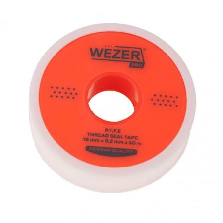 Фум лента Wezer PRO 19 мм х 0,2мм х 50 м для воды