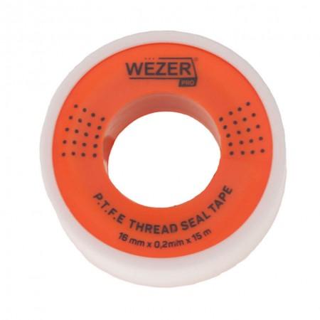Фум лента Wezer PRO 12 мм х 0,2мм х 15 м для воды