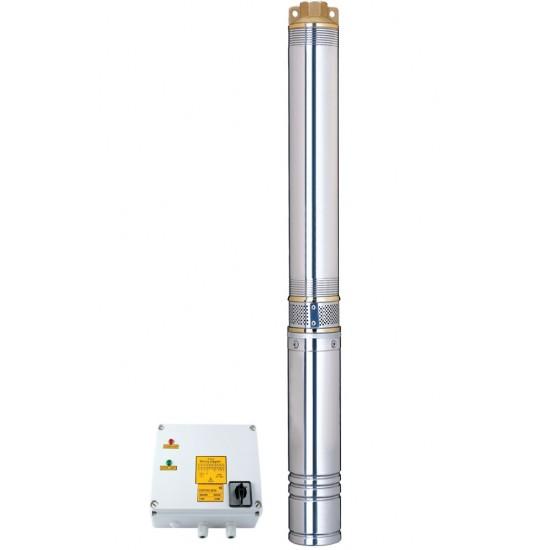 Насос центробежный, Aquatica (Dongyin) 7771653, 380В 3.0 кВт Hmax 111(75)м Qmax 240(165)л/мин Ø102мм