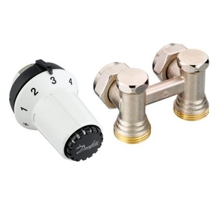 Комплект для подключения стальных радиаторов (задн.подкл.) RAS-CК+RLV-KS Danfoss 013G5276