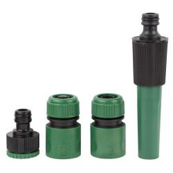 Набор для полива: насадка распылитель 2-х режимная 2 коннектора+адаптер Grad (5012605)