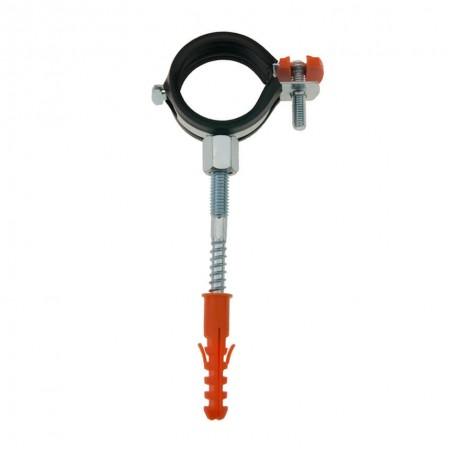 Хомут металлический 3/8 дюйма 15-20 мм Vital VL PRO с винтом-шурупом и дюбелем