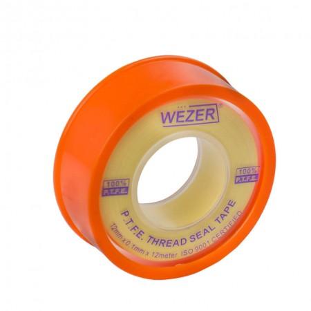 Фум лента для газа Wezer 12 мм х 0,1мм 12 м