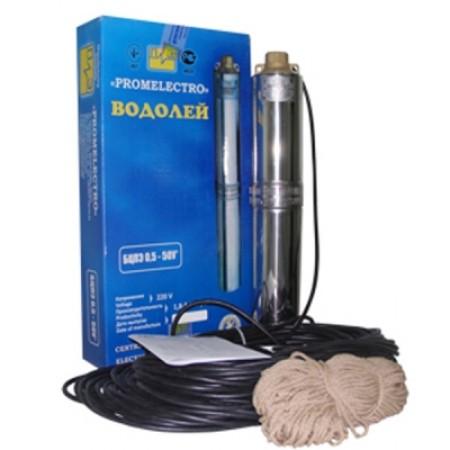 Насос Водолей скважинный БЦПЭ 0,5-40У кабель 25м