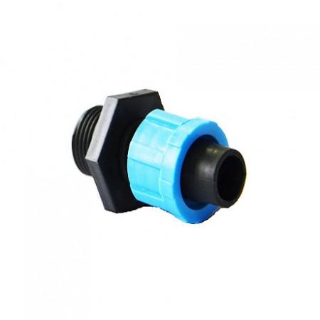 "Муфта с наружной резьбой SL-002 3/4"" для ленты Drip Tape 100 шт"