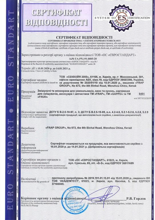 Сертификат GAPPO